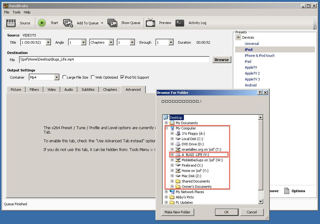 Ripping a DVD to iPod Video on Windows XP | gbradhopkins com