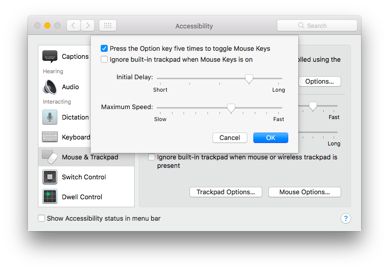 """Mouse & Trackpad Preference Pane Screen Capture"""